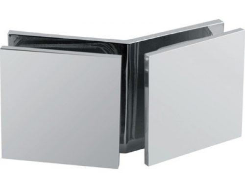 135 degree brass glass to glass clip