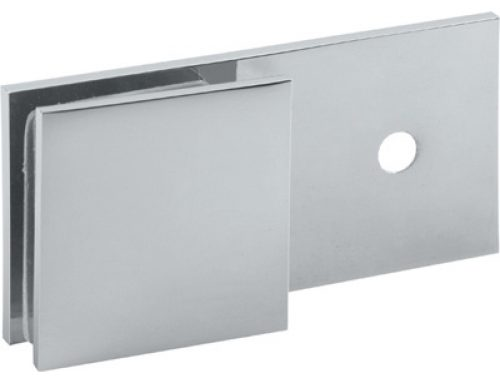 180 degree wall to glass brass glass clip