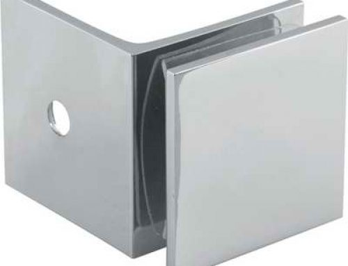 90 degree glass to wall brass glass clip