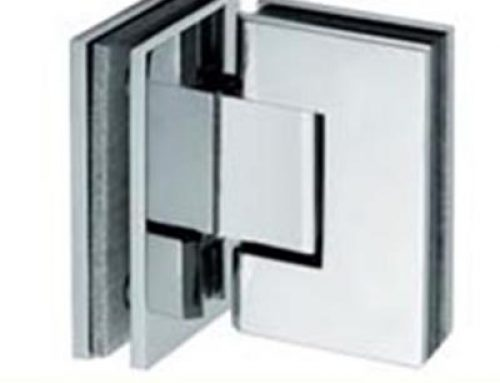square 90 degree double opening bathroom glass clamp