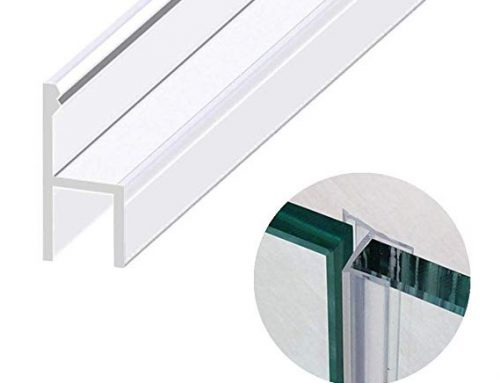 H clear PVC seal shower screen rubber seal glass shower door fitting